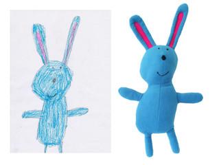 Rabbit based on Mira's drawing