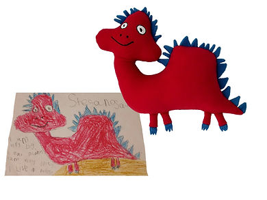 hand made red dragon, red dragon wales, custom made dragon soft toy