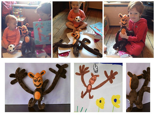 Cutom made monkey soft toy, Hand made toorder stuffed soft toy,