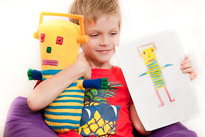 Soft toy designed by child, make your own soft toy,