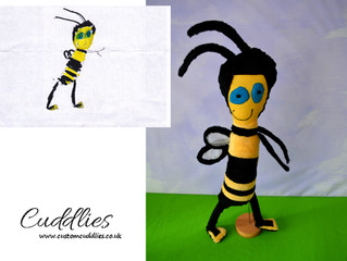Bee drawing by Charlie