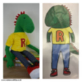made to order school mascot, soft toy made out of drawing