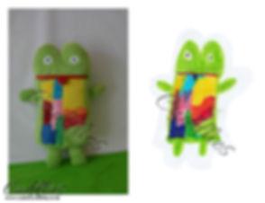 Green frog, kermit soft toy, hand made kermit soft toy.