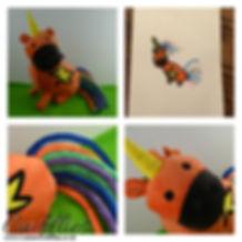 Cutom made plush soft toy, unicorn made to order