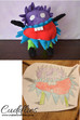 Not that scary monster made from child's drawing