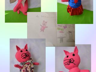 Pink Cat drawn by Maya.