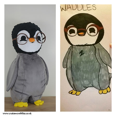 Drawings into Custom Stuffed Animals