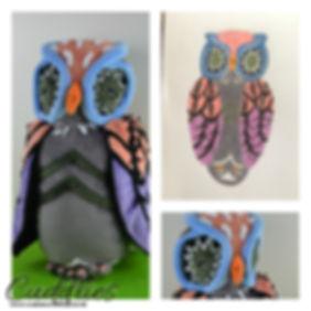hand made owl soft toy, owl plush.