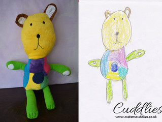 Bear made from child's drawing