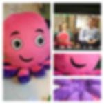 octopus energy mascot, soft toy octopus, handmade soft toy