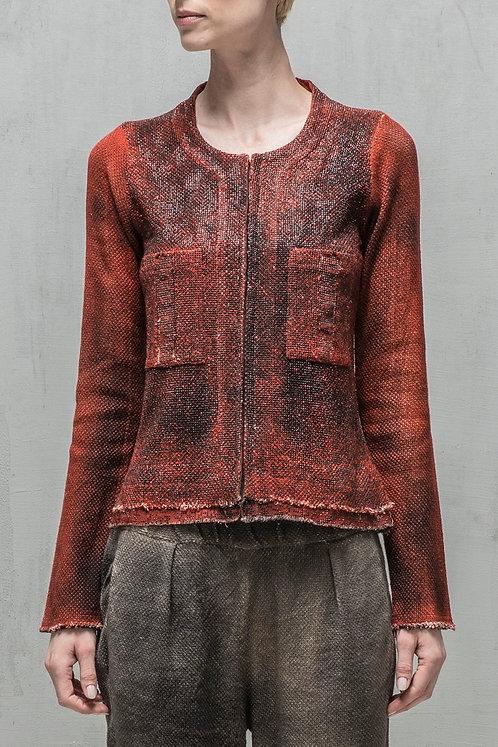 Beaded blazer with hand spray detail