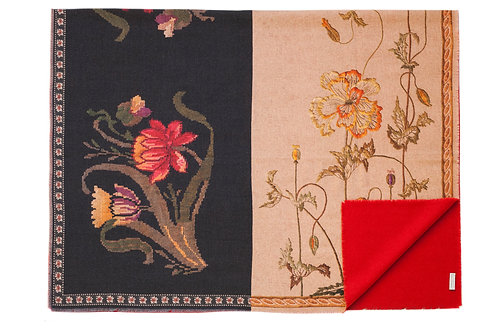 PANCAKE/SW-130X190S - Multicolor Floral Print Blanket