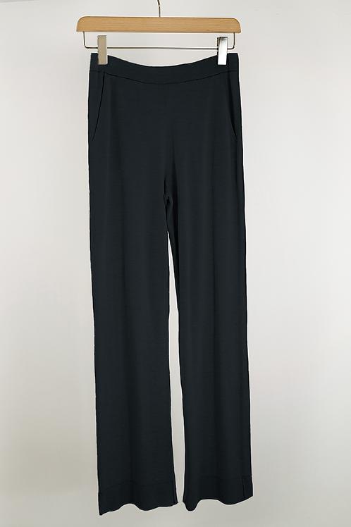 Silk Cotton Straight Leg Pullon Pant