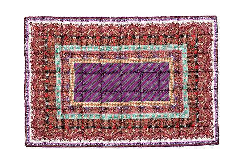 ALOE/S-135X195IPO - Paisley print stuffed comforter