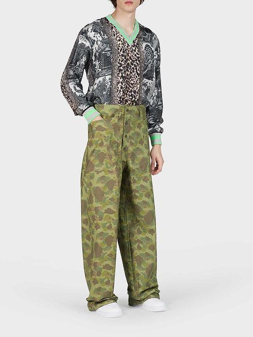 Double Large Reversible Cotton Pants