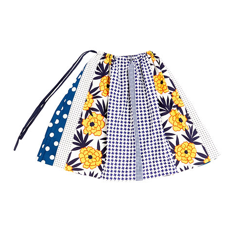 Wrap cotton skirt
