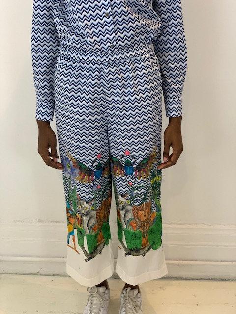 Cotton palazzo pants