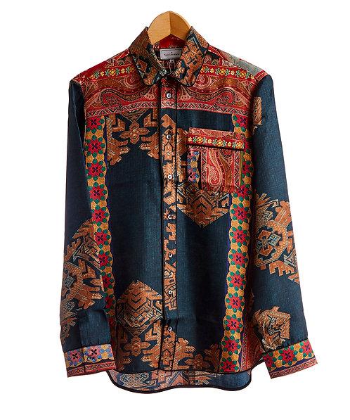 ALOE/S-CML10642 - Silk Pajama Shirt