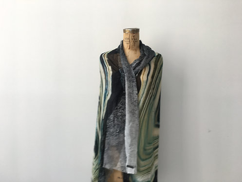 Agata scarf - mineral inspired print