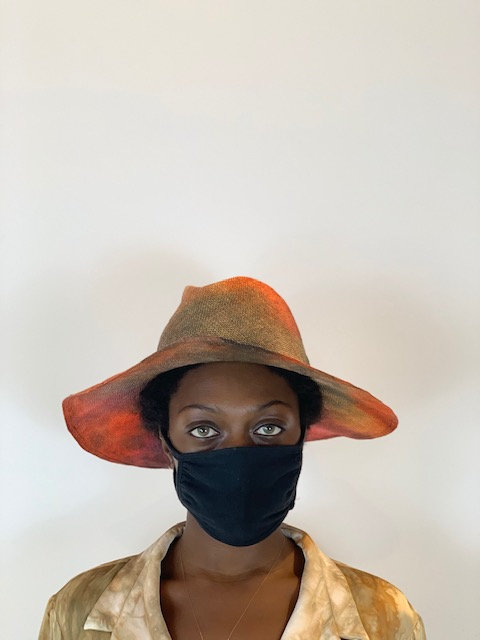Viscose hat in dark camouflage