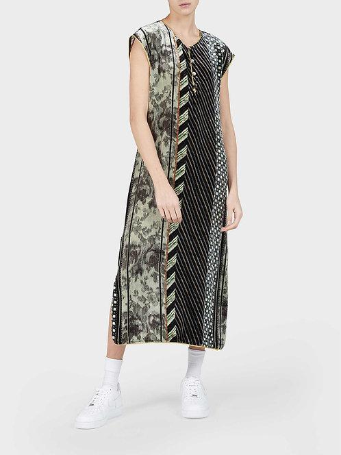 Velvet Dress with Side Slit