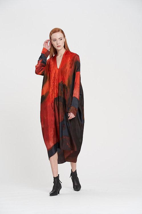Lava Pin Tuck Dress