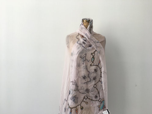 Gioia scarf - with lurex allover