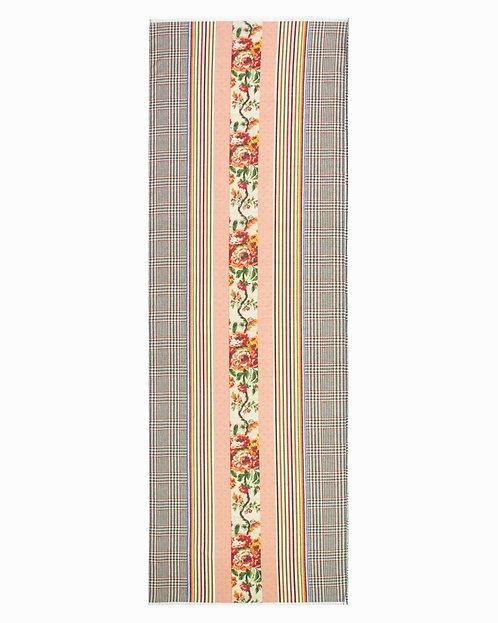 Fringe Cotton Silk Scarf