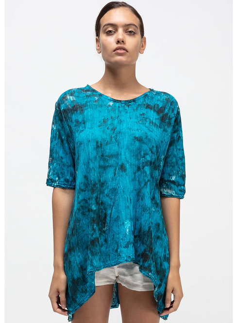 Roundneck long tee with camouflage effect