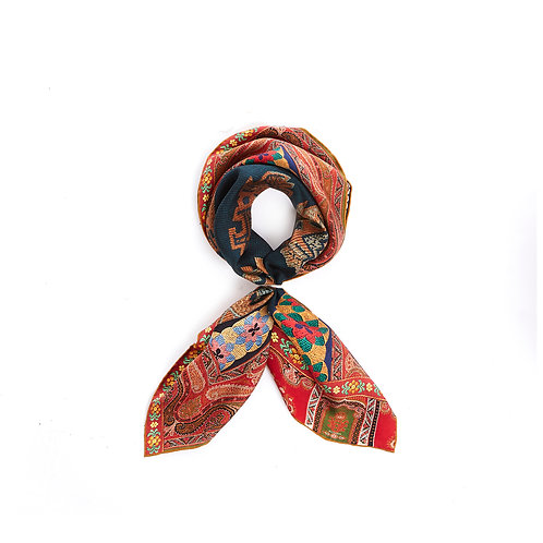 ALOEUW/SW-067X067M - Abstract print Handkerchief