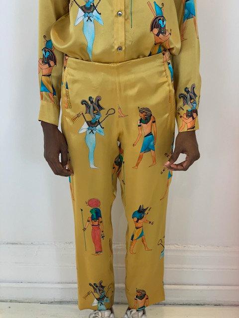 Silk cigarette pants