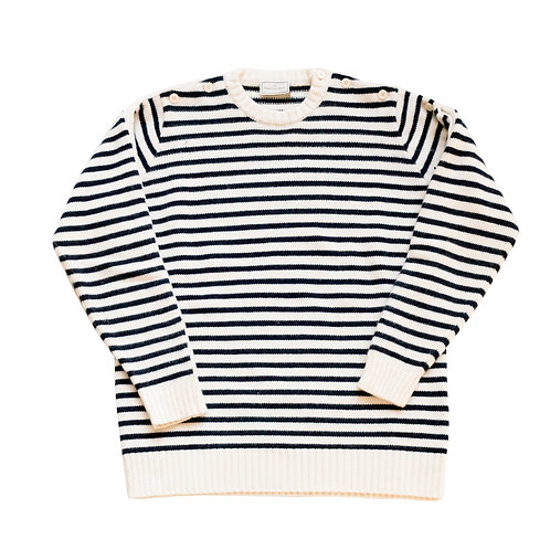 GIROCOLLO-PBL016 - Stripped Sweater