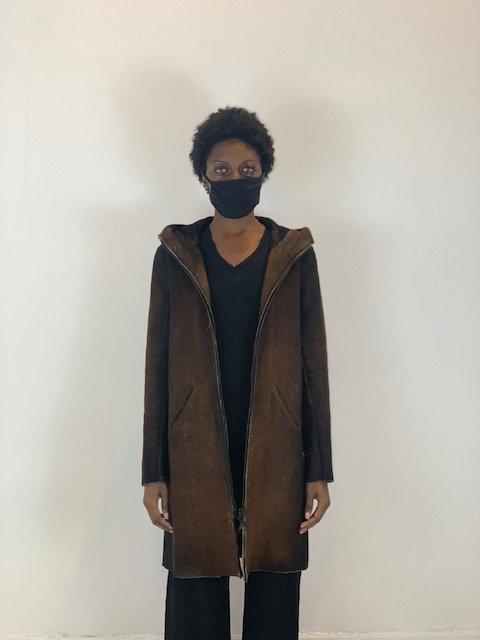 Double Dyed Zipper Coat