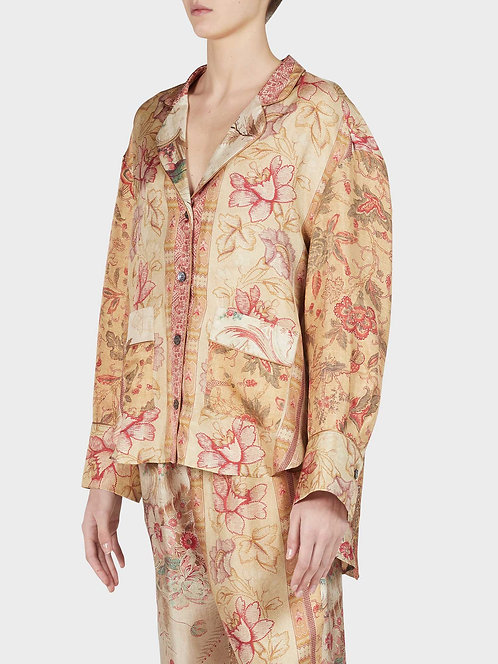 Asymmetric Pyjama Shirt With Front Pockets