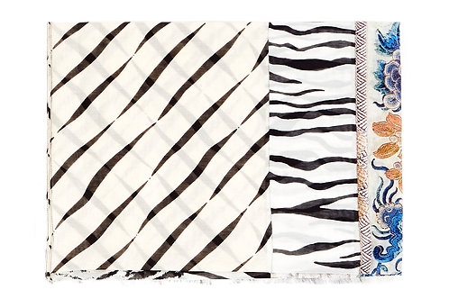 HAWN/SW-65x190A - Cotton/Silk small scarf