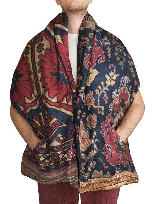 ALOEUW/SW-048X180IPO - Geometric print scarf