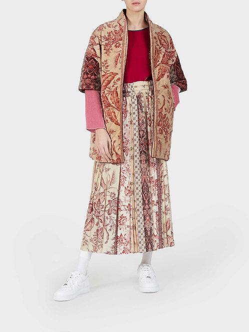 Reversible Kimono in Silk and Velvet