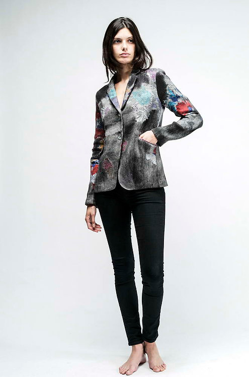 Blazer with hand painted details