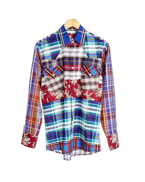 Cowboy style cotton shirt
