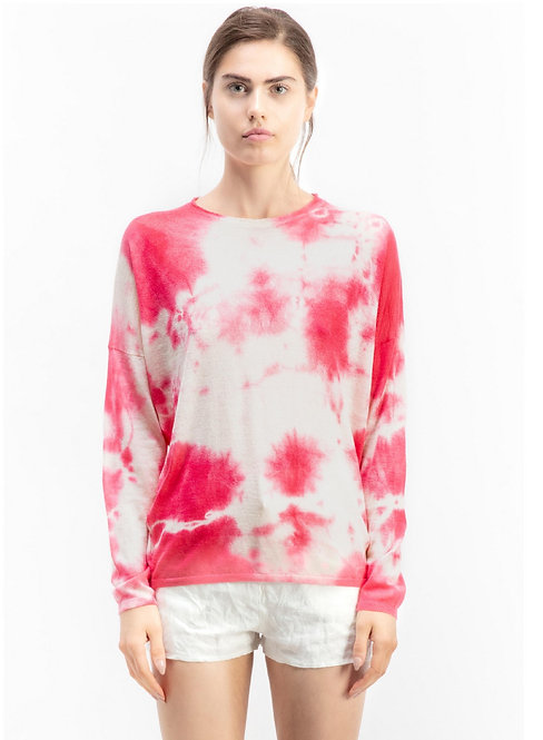 Crewneck with tie dye effect