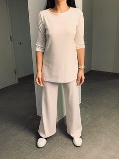 Boatneck Tunic with 3/4 Sleeves