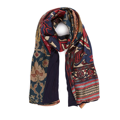 ALOEWON-065X190D - Double sided scarf