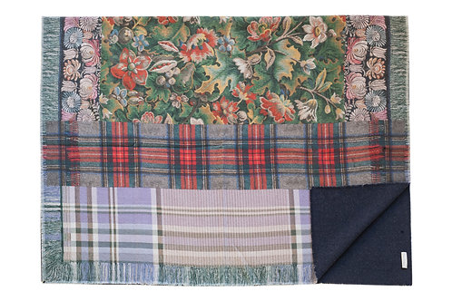 PANCAKE/SW-130X190S - Floral and Plaid 2 print Blanket