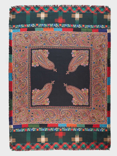 Cashmere Silk Scarf with Fringe