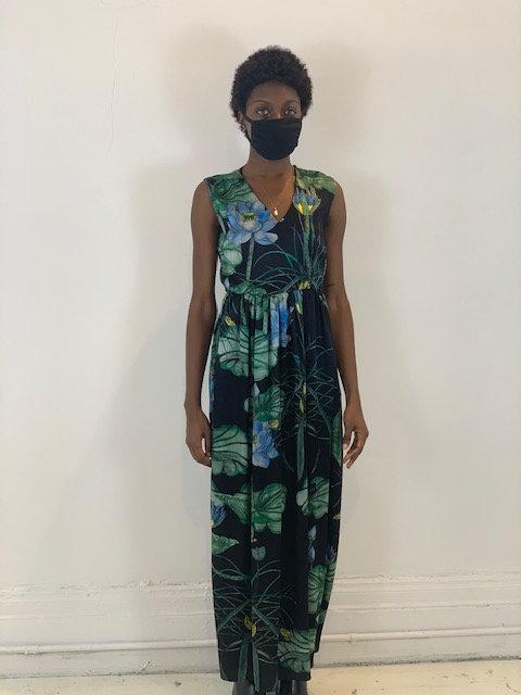 Long dress in silk