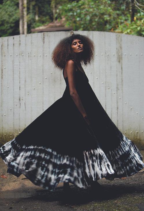 Silk velvet lina dress