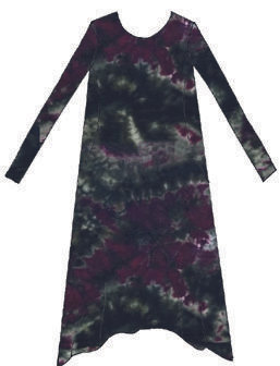 Duo dress cotton and silk