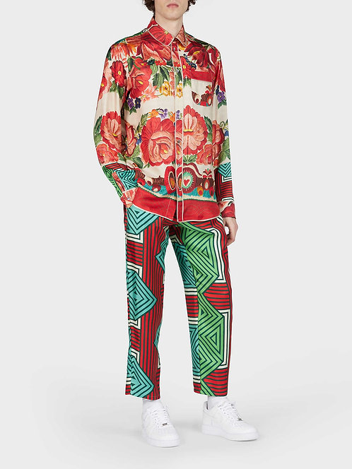 Pyjama Shirt With Front Pocket