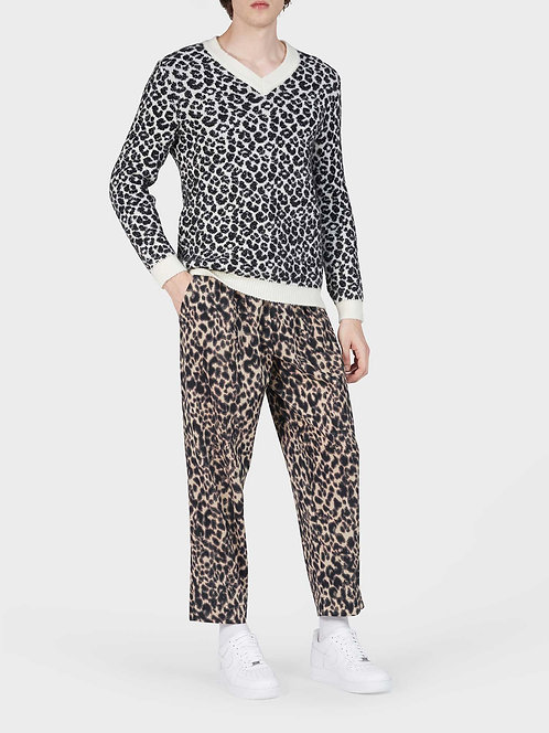 Cotton Straight Pant with Button and String
