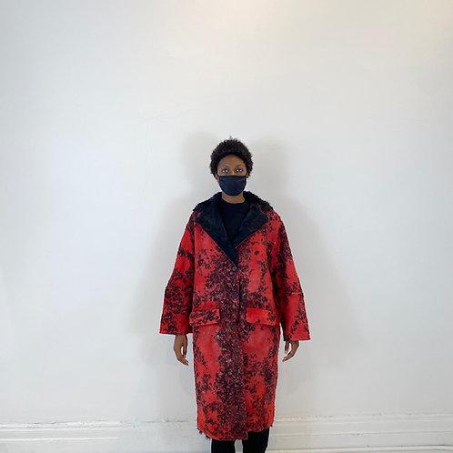 Fur Wool Coat